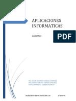 Glosario Aplicaciones Informaticas