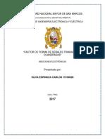 FACTOR DE FORMA DE SEÑALES TRIANGULAR Y CUADRADAS