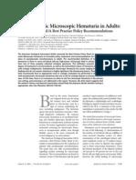 Asymptomatic Microscopic Hematuria