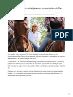 Flor Ayala Se Une a Cabalgata Con Comerciantes de San Pedro