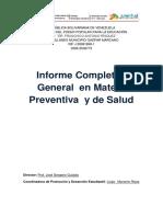 Informe en Materia Preventiva y de Salud