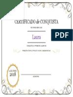 Certificado de Conquista