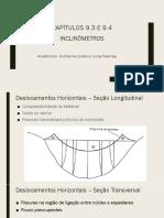Apresentação - Deslocamentos Horizontais em Barragens - Inclinômetros