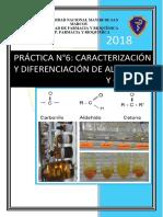 Diferenciación y caracterización de aldehídos.