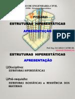 (20170913144046)Estruturas Hiperestáticas - Aula 1 - Apresentação