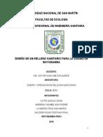 Diseño de Relleno Moyobamba Conclusiones