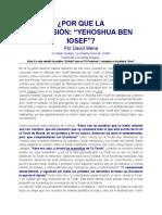 ¿Por Que La Expresion Yehoshua Ben Yosef?