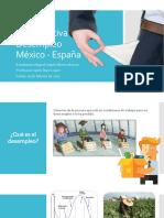 Comparativa Desempleo México - España
