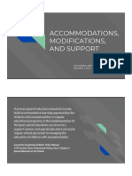 accommodations modifications and support  1