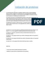 Desnaturalización de Proteinas