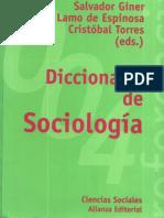 Diccionario de Sociología - GUINNER Con Notas