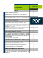 Lista de Chequeo Documento Nº 1 Identificación de Peligros.xls