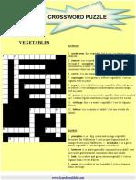Crossword Vegetables