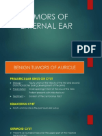 Tumors of External Ear