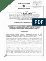 Decreto 410 Del 01 Marzo de 2018
