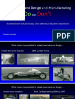 Do and Don't in Formula Student Design and Manufacturing