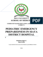 Pediatric Emergency Preparedness 2010