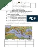 Prueba de Historia Espacio Geografico Griego y Romanos