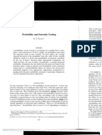 Probability and Paternity