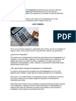 El Pago de Impuestos en Guatemala