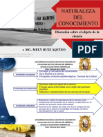 1.-Naturaleza Del Conocmiento Mg. Mely Ruiz