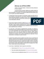 Pobreza en El Perú 2016