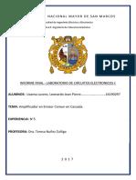 Circuitos Electronicos I - Informe FINAL 5 - FIEE UNMSM