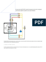 VGA a Vídeo Compuesto en Blanco y NegroEste Cable Sirve Para Conectar La Salida VGA Del PC a La Entrada de Vídeo Compuesto de Un Vídeo o Televisor