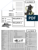 Crib Sheets for D&D35 Version 1-1