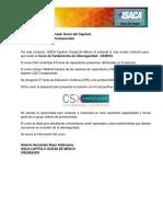 Isaca Cdmx Curso Csx Fundamentals 2018 v5