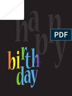 Happybday Card