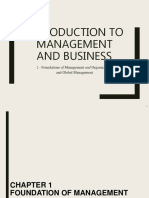 Foundations of Management and Organizations and Global Management