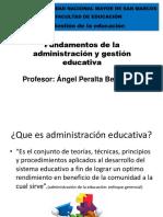 Fundamentos de La Administración y Gestión Educativa