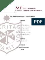DESARROLLO FOLICULAR Y CICLO OVÁRICO