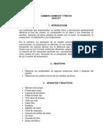 Cambios quimicos y fisicos Laboratorio N°7