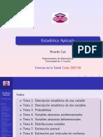 Estadisticas Ricardo Cao u de La Coruña