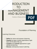PART 2 - Foundations of Planning and Strategic Management