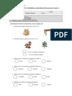 Evaluación Unidad N1 Cs Naturales