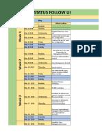 Daily Status Followup Sheet - HCM R2