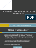 Ethics and Social Responibilities