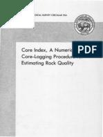 Core Index, A Numerical Core-logging Procedure for Rock Quality Estimation