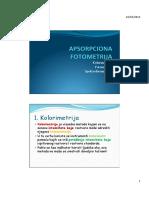 Instrumentalne Analize Apsorpciona Fotometrija 11032013
