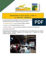 Compte-rendu des rencontres du Pôle Social - 12.06.2018
