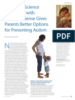 Emerging Science Combined with Common Sense Gives Parents Better Options for Preventing Autism by Maureen McDonnell, RN