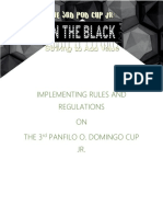 Implementing Rules and Regulation on 3rd POD Cup Jr