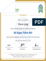 Course Certificates 6sigmastudy_Praveen George (1)
