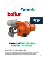 Jual Burner Baltur TBG Single Stage Gas