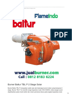 Jual Burner Baltur TBL P 2 Stage Solar