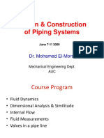 Design & Construction of Piping Sys