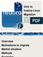 Presentations Unix to Fedora Linux